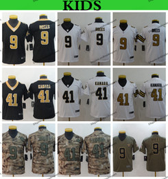 86970c52a Youth New Orleans Kids Saints Camo Salute to Service Football Jerseys 9  Drew Brees 41 Alvin Kamara Rush Stitched Shirts