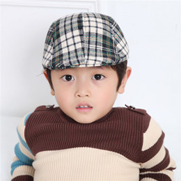 Ear Cotton Australia - Hot new Kids Boys Girls Swallow gird Beret Cap Toddler Children's Flat Cabbie Hats Cotton Sun Caps WCW468