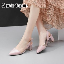 TransparenT open dress online shopping - Sianie Tianie summer PVC clear transparent sandals for female pointed toe high heels dress shoes women slingback sandals