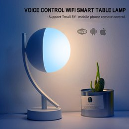 camera for desk 2019 - Bedroom Simple Wireless Lamp Buld Wifi Smart Desk Lamp RGB Bulb for Amazon Alexa Google Assistant,Festive Decorative LED