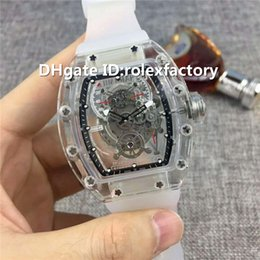 $enCountryForm.capitalKeyWord Canada - New Luxury 56-01 Watch Automatic Q3.28800 Sapphire Crystal transparent Case Skeleton Dial Rubber Strap transparent case back Mens Watch