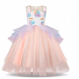 $enCountryForm.capitalKeyWord Australia - New Floral Dress For Girls Birthday And Wedding Kids Party Prom Gown Girl Children Clothing Summer Flower Dresses Kids Frock 10t MX190724