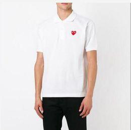 $enCountryForm.capitalKeyWord Australia - 2019 hot sale men's short-sleeved embroidered T-shirt casual men's lapel Red Heart Embroidery Logo Polo T-shirt summer fashion T-shirt polo