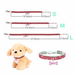 $enCountryForm.capitalKeyWord Australia - Bling Rhinestone Dog Collar Crystal Puppy Chihuahua Pets Collars Bone Pendant Leash For Small Medium Dogs Mascotas Accessories