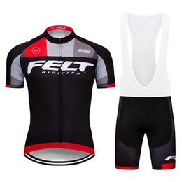 Bicycle Sales Australia - Hot Sale Bike Team FELT Cycling Jersey bib shorts Set men MTB Bicycle Clothing summer quick dry sports uniform racing wear Y041003