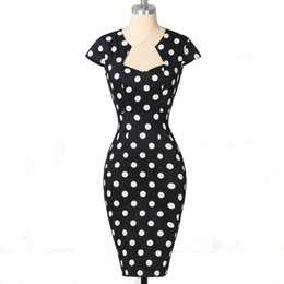 $enCountryForm.capitalKeyWord UK - Women Dress Summer Polka Dot Vintage 50 S Clothes Robe Rockabilly Clothing Vestidos Bodycon Pencil Wiggle Sexy Party Office Dress Y19070901