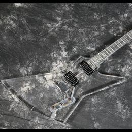$enCountryForm.capitalKeyWord UK - Electric Guitar Full Acrylic Body&Neck Blue LED Light Crystal 22 Frets Guitar Starshine New Design Good Quality