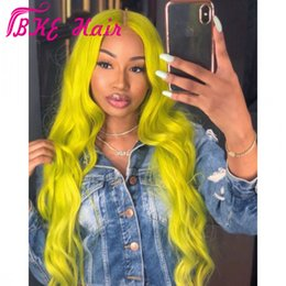 Green Color Lace Wig Australia - Hotselling Ombre Color green Lace Front Wigs synthetic with Baby Hair cosplay lace frontal Wigs for white black women Pre-plucked Hairline