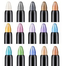 $enCountryForm.capitalKeyWord Australia - Newly Design Highlighter Eyeshadow Pen Cosmetic Beauty Glitter Eye Liner Shadow Pencil Long Lasting Waterproof Luminous Makeup Drop Shipping