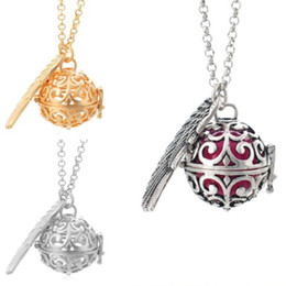 Oil 31 Australia - Aromatherapy Pendant With 31 Inches Chain Hollow Out Essential Oil Diffuser Necklace Women Fashion Jewelry Gifts