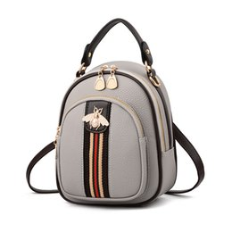 China 2018 Shoulder Crossbody Bags For Women Leather Luxury Handbags Women Bags Designer Bee Summer Small Ladies Hand Bags Sac supplier light pink leather handbags suppliers
