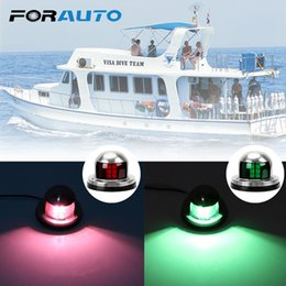 marine boat lights Australia - FORAUTO 1 Pcs Yacht Warning Light for Marine Boat Yacht DC 12V Signal Light LED Bow Navigation Stainless Steel Red Green