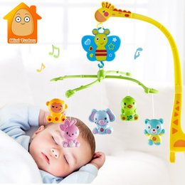 giraffe toys Australia - 4 in 1Musical Crib Mobile Bed Bell Kawaii Animal Baby Rattle Rotating Bracket Toys Giraffe Holder Wind-up Music Box Gift CJ191216