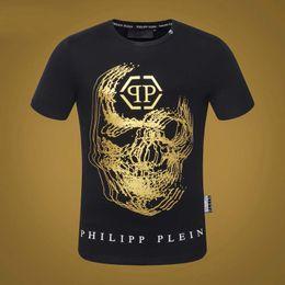 $enCountryForm.capitalKeyWord Australia - 2019 new fashion luxury designer men's printed t-shirt Philip solid color short-sleeved fluorescent skull diamond cotton T-shirt 19ss