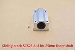 Block Bearings NZ - SC25LUU SCS25LUU 25mm linear bearing slide block for 25mm rod round shaft XYZ Table CNC 1pcs