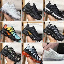 Wholesale New Kids Children Black White Oreo Multi Boy Plus TN Army Green Sneakers Baby Girls Trainer Designer Sports Bowling Shoes Eur24
