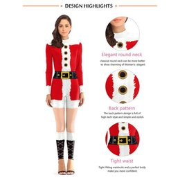 Christmas Jumpsuit Costumes NZ - New Christmas Jumpsuit Costumes Cosplay Overall Women Tight Outfit Xmas Female Sexy Costumes Jumpsuit For Adults Kerst