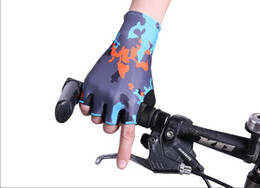 Wholesale art wear xl online – design Summer New sport gloves outdoor cycling half finger gloves cycling fitness sports non slip wear gloves screen glove