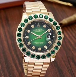 cbe2984af08 83 ROLEX AAA Marca De Luxo 18 K Ouro Presidente Dia-Data relógio de quartzo  banda Homens Dial Big Diamantes Bezel Automático relógio de Pulso Mens  Relógios
