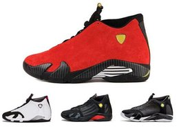0810a0700076b2 14 XIV Oxidized Green Indiglo Thunder Playoffs Black Toe Red Suede 14s Men  Basketball Shoes Sneakers Last Shot Sport Shoes