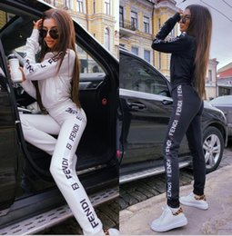 $enCountryForm.capitalKeyWord Australia - 2020 Women High quality sports suit zipper jacket + long pants 2 pieces vetements fitness suit jogging sportswear Yoga wear