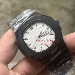 $enCountryForm.capitalKeyWord Australia - Top Luxury Watch White Dial Asia 2813 Movement 40mm Nautilus 5711 Mechanical Transparent Stainless Steel Automatic Mens Watches Wristwatches