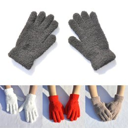 christmas wool mittens UK - 201911 6 Colors Women Men Soft Full Finger Gloves Adult Winter Warm Thick Gloves For Outdoor Riding Jogging Mittens Christmas Gift H928Q F