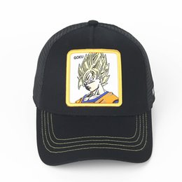 red dragon hats UK - Summer Mesh GOKE Baseball Caps Young Mens Womens Sunhat Embroidery Anime Visor Dragon Ball Casual Cap GOKU VEGETA Fashion Ball Hats