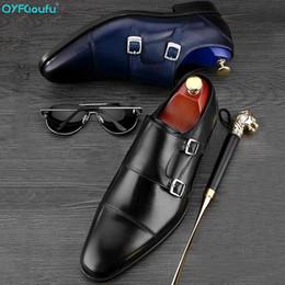 monk formal shoes men 2019 - QYFCIOUFU Double Monk Strap Oxfords Formal Shoes Men Genuine Leather Wedding Suit Shoes High Quality Party Office Men Dr