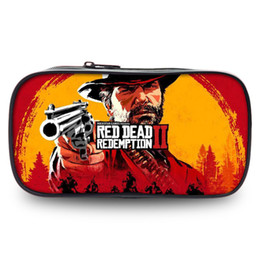 $enCountryForm.capitalKeyWord UK - Red Dead Redemption 2 Pencil Case School For Boys Supplies Hot Game Print Pen Box Office Pouch Wallets portfel Makup Wash Bag