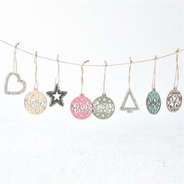 $enCountryForm.capitalKeyWord Australia - 12pcs  Box Creative Laser Hollow Christmas Ball Christmas Wooden Pendant Nordic Snowflake Ornaments Gifts