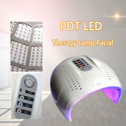 color therapy machines 2019 - Hot Sale Foldable 3 Color LED Facial Treatment Photon Therapy Mask PDT Skin Rejuvenation Face Beauty Machine LED Light T