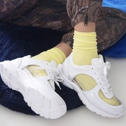 ChoColate suede shoes online shopping - New women pvc triple white sneakers mens suede calfskin runners trainers low lace up sneaker black athletic shoes colors