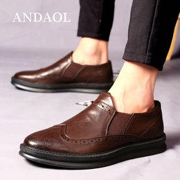 $enCountryForm.capitalKeyWord Australia - ANDAOL Men's Leather Casual Shoes Top Quality Genuine Cow Leather Breaehable Thick Sole Oxfords Luxury Slip-On Business Shoes