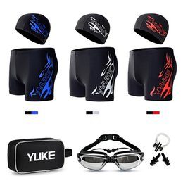 $enCountryForm.capitalKeyWord Australia - 2019 New Men Swimsuit Sexy Mens Swim Briefs+Swimming Goggles+Swim Cap+ Ear Plugs Nose Clip Swimwear Bathing Suits Accessories