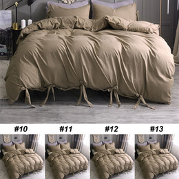 Wholesale 3pcs Brown Gift Bedding Sets New Bed Duvet Cover Luxury Home Furnishing Quilt Cover Home Hotel