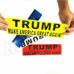 Wholesale Car Stickers NZ - New hot-selling Donald Trump Bumper car sticker reflective sticker Fashion high quality Reflective Wall Stickers T9I002