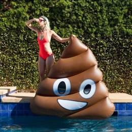 Adult Swim Inflatable Pools Australia - 180cm Giant Funny Emoji Inflatable Pool Float Adult Children Swimming Ring Beach Water Toys For Baby Floating Air Mattress