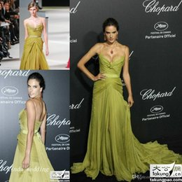 Special Occasion Dresses Elie Saab Australia - Alessandra Ambrosio Elie Saab Evening Dress Sexy Spaghetti Strap Long Celebrity Wear Special Occasion Dress Prom Party Gown