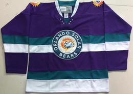 Опт Настроить Орландо солнечные медведи фиолетовый хоккей Джерси вышивка сшитые любое количество и имя трикотажные изделия