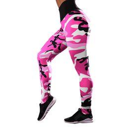 Camouflage Workout Leggings Australia - Fashion Push Up Leggings Women Workout Camouflage Sexy Leggings Slim Polyester High Waist Jeggings Women Pencil Pants 5