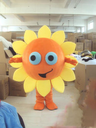 Wholesale mascot costume sun for sale – halloween Halloween Sunflower Heronsbill Mascot Costume Cartoon Sun flower Anime theme character Christmas Carnival Party Fancy Costumes Adult Outfit