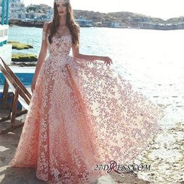 stunning short sleeve evening dress Canada - 2020 New Stunning Pink Luxury Beads Appliques Lace Evening Dresses Saudi Arabic Elegant Off Shoulder A Line Vestidos de fiesta Prom Gowns