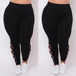 $enCountryForm.capitalKeyWord Australia - New Women Plus Size Yoga Pants L XL 2X 3X Black Criss-Cross Soft Comfort Skinny Running Sports Leggings Womens Elastic Leggings