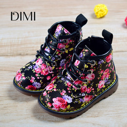 fashion boots for boys Australia - 2018 New Spring Autumn Children Rubber Boots Leather Flower Sewing Boots For Girls Fashion Kids Boots Size 21-30 Y200104