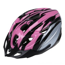 men head gear Australia - Cycling Bicycle Protective Gear Cycling Adult Bike Handsome Carbon Helmet with Visor Pink Head Circumference 5465cm Headwidth Below 16cm