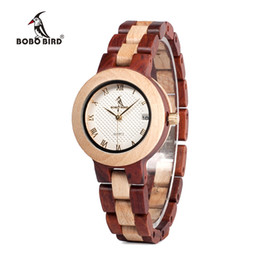 japan movement wood watches Australia - reloj mujer BOBO BIRD Women Watches Japan Movement Timepieces Wooden Band Quartz Wood Watch for Women