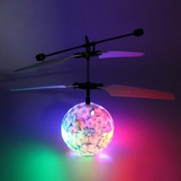 Best Toy Helicopters Australia - helicopter Colorful Flashing Infrared Induction Helicopter Flying Ball Disco Magic LED Ball Stage Lamp Children Toy Best Gift for Kids