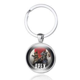 $enCountryForm.capitalKeyWord Australia - Apex Legends Keychain Fashion Logo Printing Glass Cabochon Key Ring Hot Game Men Motorcycle Car Key Chain Holder Souvenir