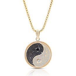 $enCountryForm.capitalKeyWord Australia - 2019 New Chinese Style Yin Yang Tai Chi Pendant Necklace Copper Zircon Jewelry Gold Silver Color Neutral High Quality Necklace
